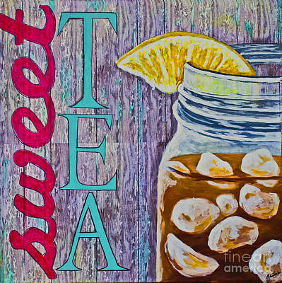 Poster featuring the mixed media Sweet Tea by Melissa Sherbon
