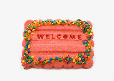 Sweet Welcome Mat Poster
