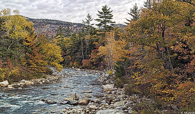 Poster featuring the photograph Swift River Autumn  by Richard Bean
