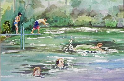 Swim At Little Elk Lake Poster