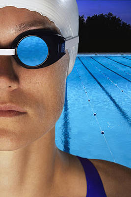 Swimmer With Goggles Poster by Don Hammond