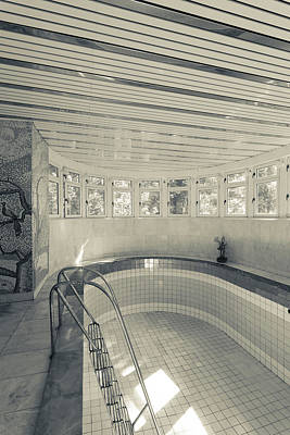 Swimming Pool At Stalins Dacha, Sochi Poster
