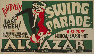 Poster featuring the mixed media Swing Parade Of 1937 by American Classic Art