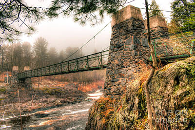 Poster featuring the photograph Swinging Bridge Before The Storm by Mark David Zahn