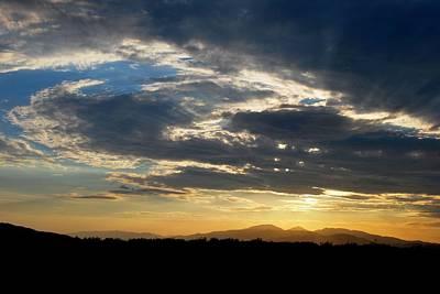 Poster featuring the photograph Swirl Sky Landscape by Matt Harang