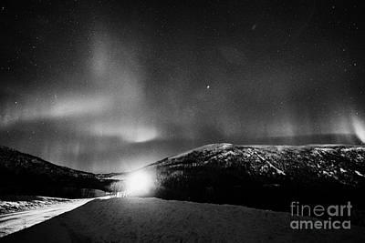 Swirling Northern Lights Aurora Borealis Near Tromso In Northern Norway Europe Poster by Joe Fox