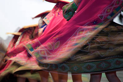 Swirling Skirts Of Dancers, Cuzco Poster by John and Lisa Merrill
