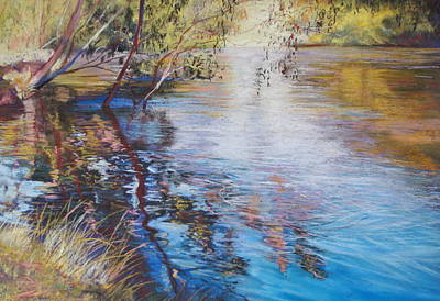 Swirls And Ripples - Goulburn River Poster by Lynda Robinson