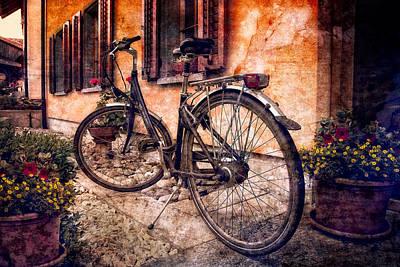 Swiss Bicycle Poster by Debra and Dave Vanderlaan