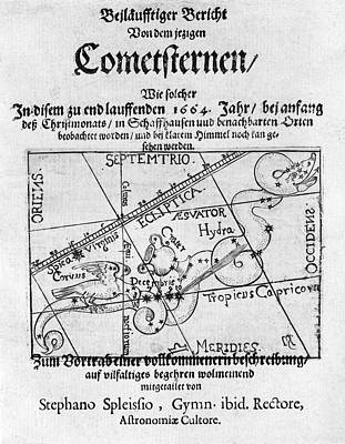 Swiss Book On The Comet Of 1664-5 Poster