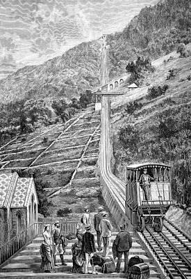 Swiss Rack-and-pinion Railway Poster by Bildagentur-online/tschanz