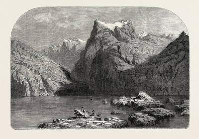 Swiss School. Lake Lucerne Poster by Calame, Alexandre (1810-1864), Swiss