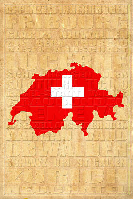 Switzerland Poster by Andrew Fare