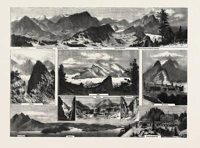 Switzerland, Buochshorn, Unterwalden, Engelberg Poster by Swiss School