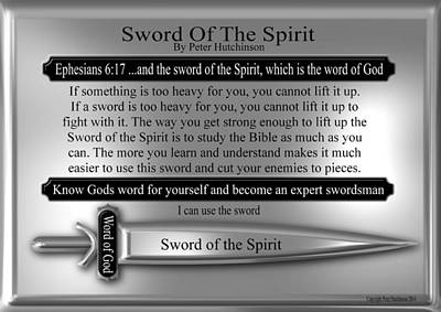 Sword Of The Spirit Poster by Bible Verse Pictures