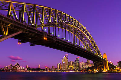 Sydney At Night Poster by Andre Distel