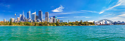 Sydney Harbour Skyline 3 Poster
