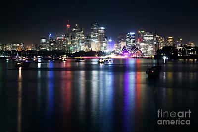 Sydney Lights Poster by Matteo Colombo