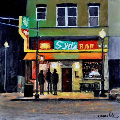 Poster featuring the painting Syd's Bar by John Reynolds