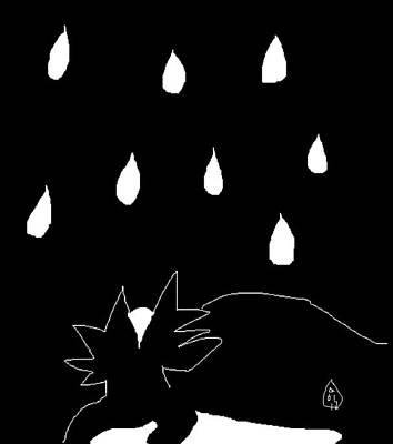 Sylvia In The Rain Poster by Anita Dale Livaditis