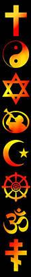 Symbols Of Religion Poster
