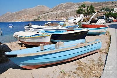 Symi Island Boats Poster