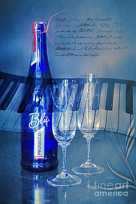 Symphony In Blue Poster by Jutta Maria Pusl