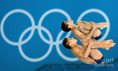 Synchronised Diving At London Olympics Poster by Ria Novosti