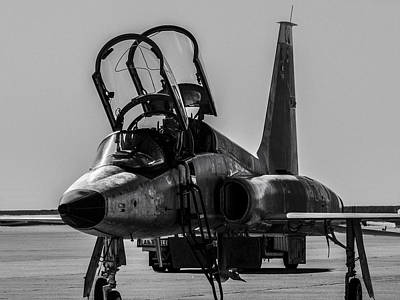 T-38 Talon Black And White Poster by Phil Rispin