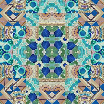 T J O D Mandala Series Puzzle 5 Arrangement 2 Inverted Poster