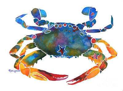 Color Me Crab E  Poster by Jo Lynch