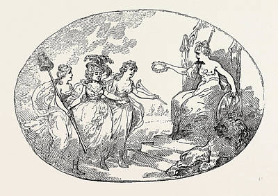 T. Rowlandson Liberty And Fame Introducing Female Poster