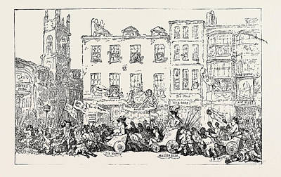 T. Rowlandson Master Billys Procession To Grocers Hall Poster