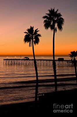 T Street Pier San Clemente California From The Book My Ocean Poster