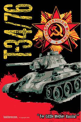 T34/76 Russian Tank Poster