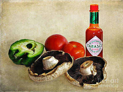 Tabasco And Fresh Vegetables Poster