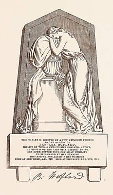 Tablet To The Memory Of Barbara Hofland, 1770   4 November Poster