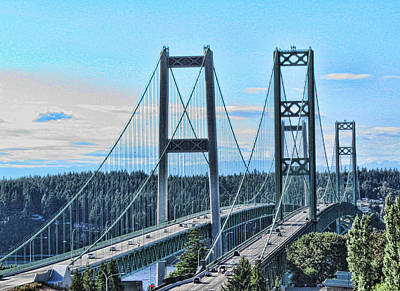 Tacoma Narrows Bridge 51 Poster by Ron Roberts