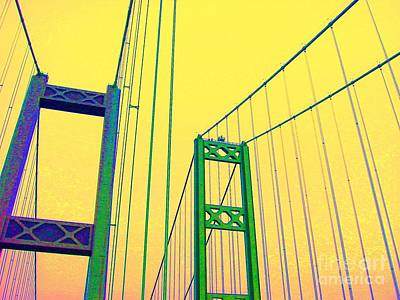 Poster featuring the photograph Tacoma Narrows Yellow by Ann Johndro-Collins