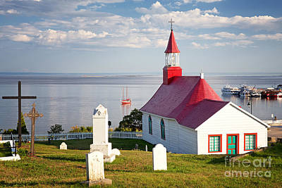 Tadoussac Chapel Poster by Jane Rix