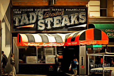 Tads Broiled Steaks Restaurant San Francisco 5d17955brun Poster by Wingsdomain Art and Photography