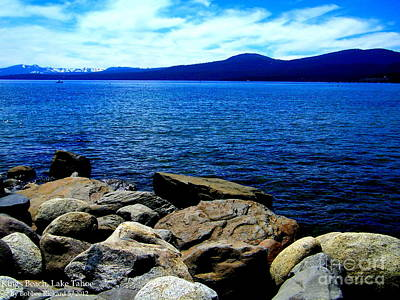 Poster featuring the photograph Tahoe Magic by Bobbee Rickard