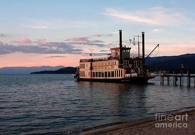 Poster featuring the photograph Tahoe Queen Riverboat On Lake Tahoe California by Paul Topp