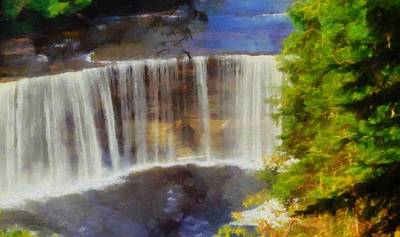 Tahquamenon Falls Painting Poster by Dan Sproul