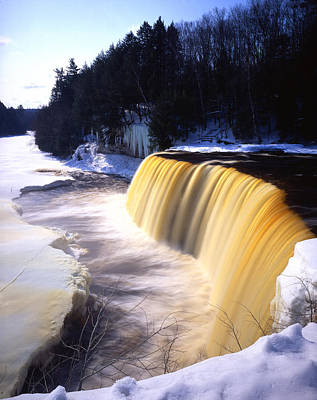 Tahquamenon Falls Poster by Ray Mathis