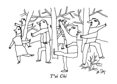T'ai Chi Poster by William Steig