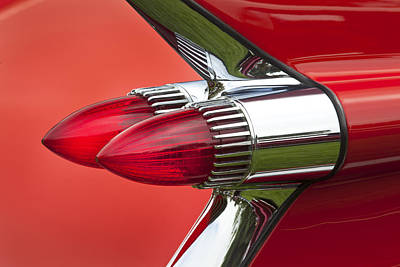 taillights on 1959 Cadillac Poster