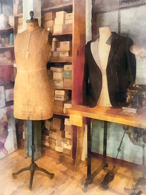 Tailor - A Pair Of Dummies Poster by Susan Savad