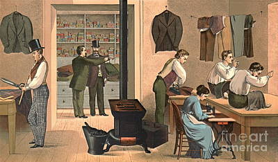 Tailor Shop 1874 Poster by Padre Art