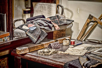 Tailors Work Bench Poster by Heather Applegate